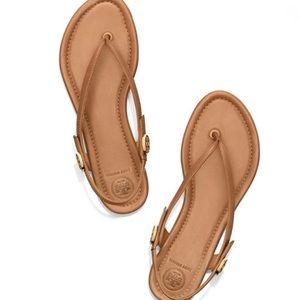 Tory Burch Minnie Travel Sandals Brown Sz 8